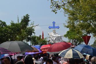 Hơn 3 ngàn người đến hành hương Đức Mẹ tại Đồng Đinh
